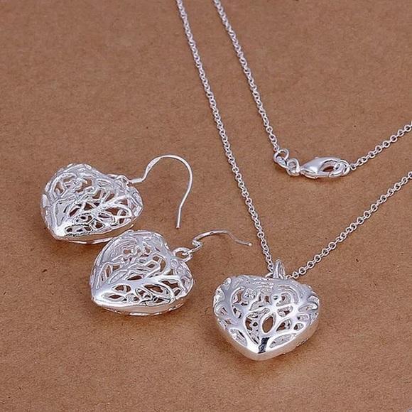 Jewelry - 925 Heart Set